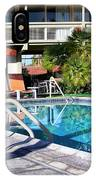 Del Marcos Pool Palm Springs IPhone Case