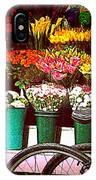 Delivery Bikes At Flower Market IPhone Case