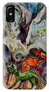 Demon Cats Haunted IPhone Case