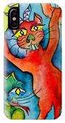 Demon Cats Reach IPhone Case