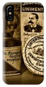Dentist  -  Tooth Powder And More In Black And White IPhone Case