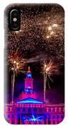 Denver Colorado Independence Eve Fireworks IPhone Case