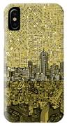 Denver Skyline Abstract 8 IPhone Case
