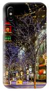 Denver's 16th Street Mall During Holidays IPhone Case
