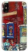 Depanneur Centre Pointe St Charles Montreal Verdun Paintings Hockey Art City Scenes Cspandau IPhone Case