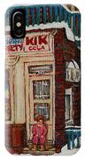 Depanneur Kik Cola Montreal IPhone Case