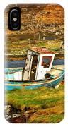 Derelict Fishing Boat On The Irish Coast IPhone Case