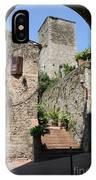 Desert Alley In San Gimignano IPhone Case