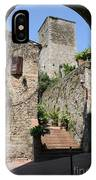 Desert Alley In San Gimignano IPhone Case