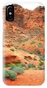 Desert Hiking Among The Sandstones IPhone Case