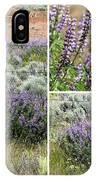 Desert Lupine Collage IPhone Case