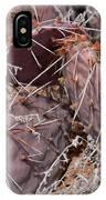 Desert Prickly Pear Cactus IPhone Case