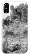 Desert Snowstorm Black And White IPhone Case