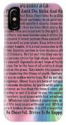 Desiderata On Abstract Heart Watercolor IPhone Case