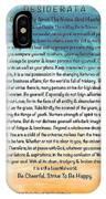 Desiderata Poem On Brighton Beach Watercolor IPhone Case