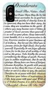 Desiderata Poem On Watercolor IPhone Case