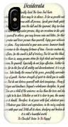 Desiderata Romanesque IPhone Case