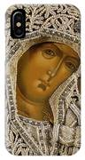 Detail Of An Icon Showing The Virgin Of Kazan By Yegor Petrov IPhone Case