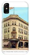 Detroit - The Cadillac Hotel - Cadillac Boulevard And Michigan Avenue - 1918 IPhone Case