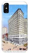 Detroit - The Lafayette Building - Michigan Avenue Lafayette And Shelby Streets - 1924 IPhone Case