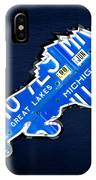 Detroit Lions Football Team Retro Logo License Plate Art IPhone Case