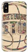 Detroit Pistons Poster Art IPhone Case