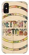 Detroit Pistons Vintage Logo IPhone Case