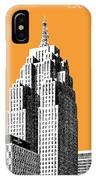 Detroit Skyline 2 - Orange IPhone Case