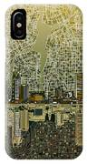 Detroit Skyline Abstract 4 IPhone Case