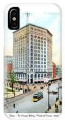 Detroit - The Majestic Building - Woodward Avenue - 1900 IPhone Case