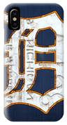 Detroit Tigers Baseball Old English D Logo License Plate Art IPhone X Case