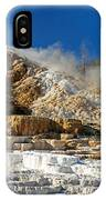 Devils Thumb At Mammoth Hot Springs IPhone Case