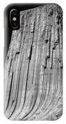 109851-bw-e-devil's Tower Bw 3 IPhone Case