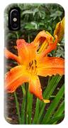 Dew Drops On Golden Lily IPhone Case