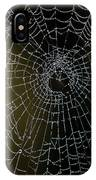 Dew Drops On Spider Web 5 IPhone Case