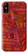 Diagonal Tiles In Reds IPhone Case