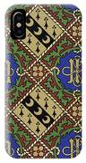 Diamond Print Ecclesiastical Wallpaper IPhone Case