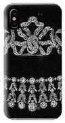 Diamond Tiara, Necklace, And Ear Rings Presented IPhone Case
