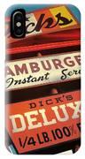 Dick's Hamburgers IPhone Case by Jim Zahniser