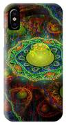 Digital Abstract Fractal Flame Art IPhone Case