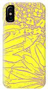 Digital Cone Flowers Drawing IPhone Case