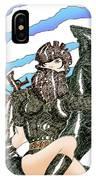 Digital Dragon Rider Colour Version IPhone Case
