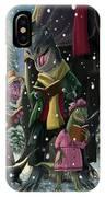 Dinosaur Carol Singers IPhone Case