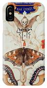 Diptych With Flowers And Insects IPhone Case