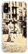 Directoire Gown - Philadelphia Mummers 1909 IPhone Case