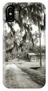 Dirt Road On Coosaw Plantation IPhone Case