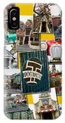Disneyland Toontown Yellow Collage IPhone Case
