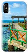 Dock And Tropical Water IPhone Case