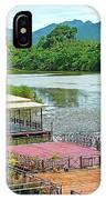 Docking Area On River Kwai In Kanchanaburi-thailand IPhone Case
