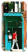 Documenting Vintage Montreal Depanneur Deli Wilensky Montreal Restaurant Paintings Cspandau  Art IPhone Case